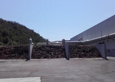 Biofiltro aperto, a servizio di un impianto integrato di digestione anaerobica e compostaggio dei rifiuti organici