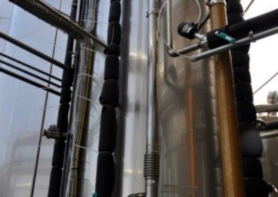 Reattore pilota AnMBR, installato in un caseificio, per digestione anaerobica e dark fermentation di reflui alimentari
