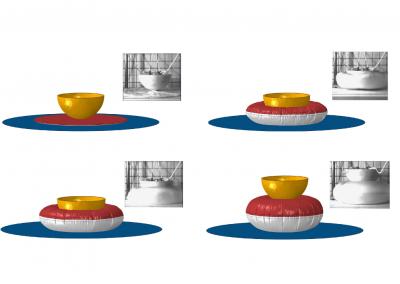 Simulazione numerica del contatto di un airbag con una sfera rigida (confronto con prove sperimentali)