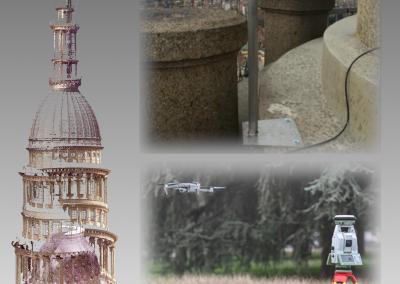 Rilievo e monitoraggio degli spostamenti della cupola di San Gaudenzio (NO), con Stazione Totale e GNSS a basso costo