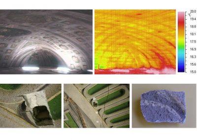 Indagini termografiche e stratigrafia dell'intonaco dipinto, Volta della Sala Mappamondi, Accademia Delle Scienze Torino