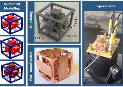 Accelerometro triassiale fabbricato con stampa 3D e metallizzazione. Collaborazione con i Dipartimenti DCMIC e DEIB