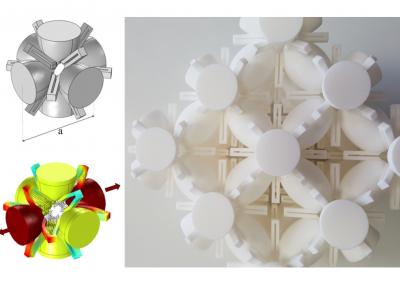Cella di cristallo fononico con proprietà auxetiche. Modello numerico e prototipo realizzato mediante stampa 3D