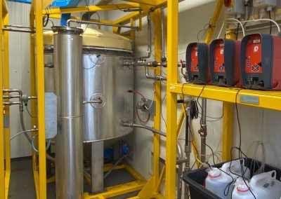 Impianto pilota di upgrade ex-situ di biogas/incremento metano prodotto per metanogenesi idrogenotrofa