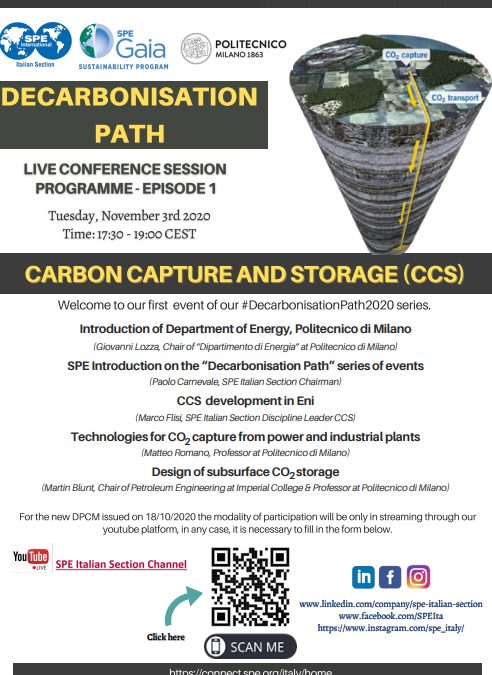 """First Event of Decarbonisation Path series """"Focus on CCS"""""""