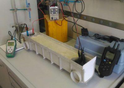Test di elettrocinesi su terreno a bassa permeabilità