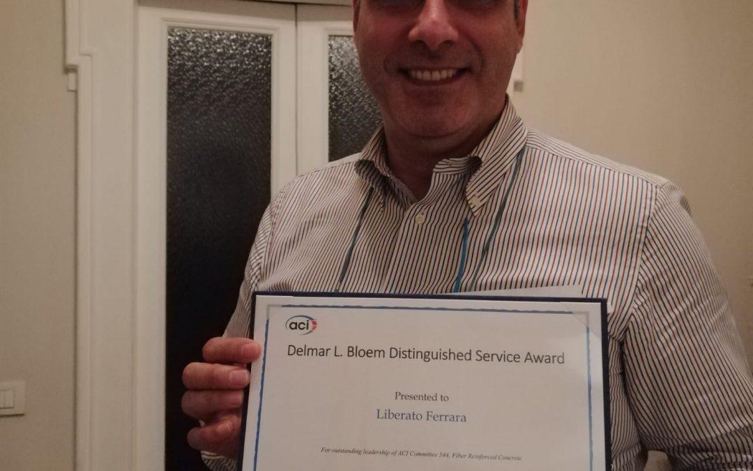 Congratulazioni al Professore Liberato Ferrara per aver ricevuto il D.L. Bloem Distinguished Service Award!