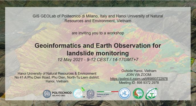 Workshop legato al progetto Geoinformatics and Earth Observation for Landslide Monitoring (GEOLMIV) (2021–2022)